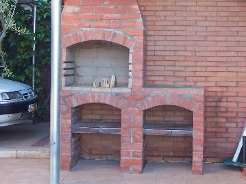 barbacoa de ladrillo brick barbecue